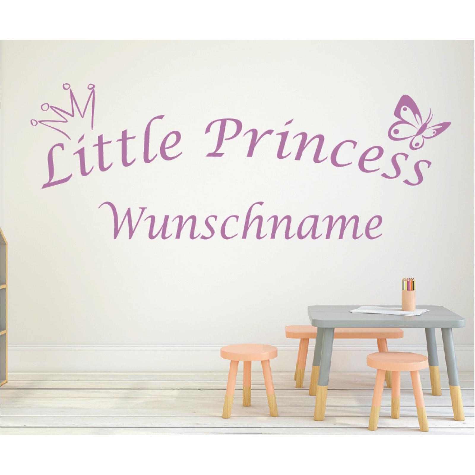 bis 100cm Wunschname Name Kindername Zimmer Aufkleber Sticker Wandtattoo No.22