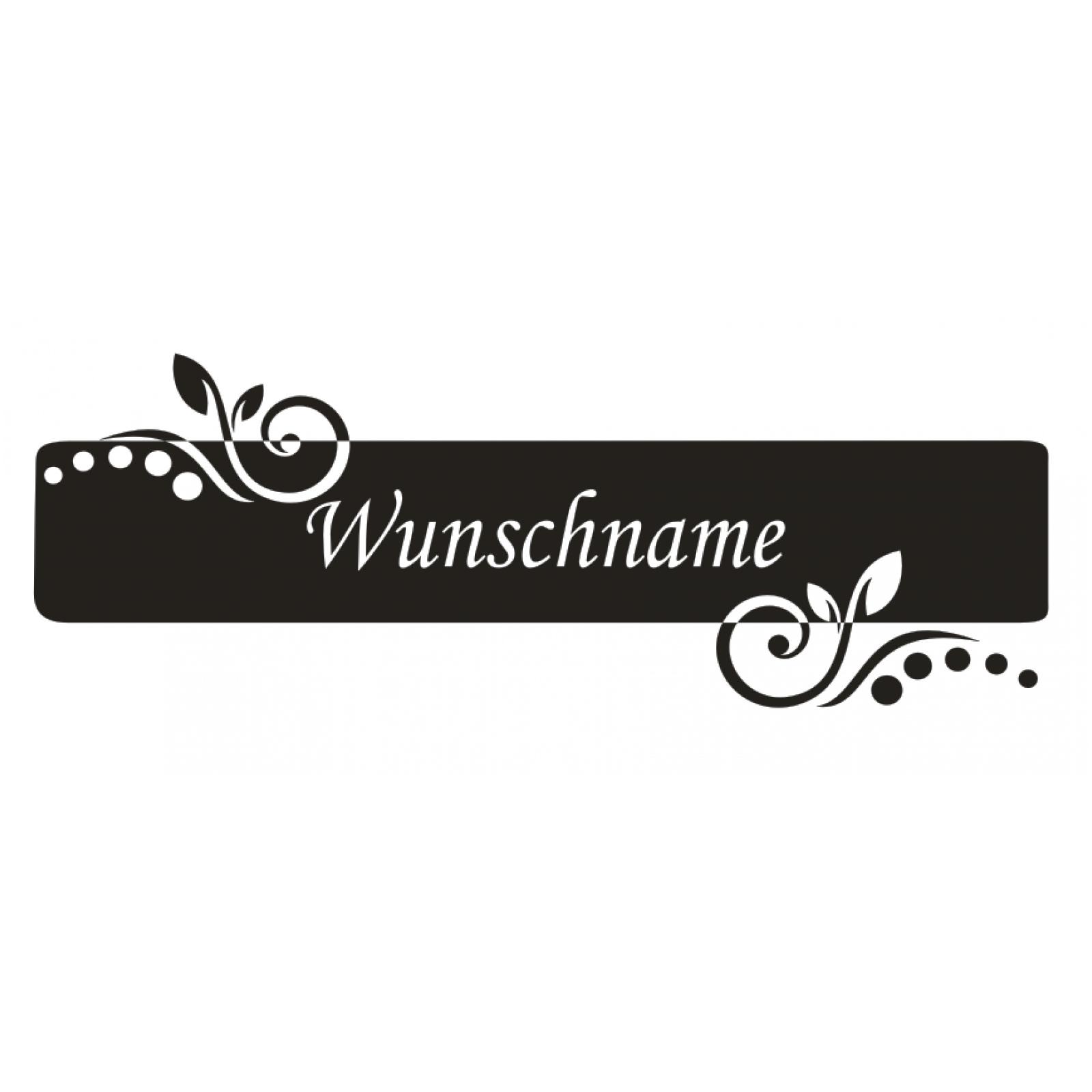 Wandtattoo-Banner-Name-Blume-Kinder-Wunschname-Wunschtext-Sticker-Wandaufkleber Indexbild 2