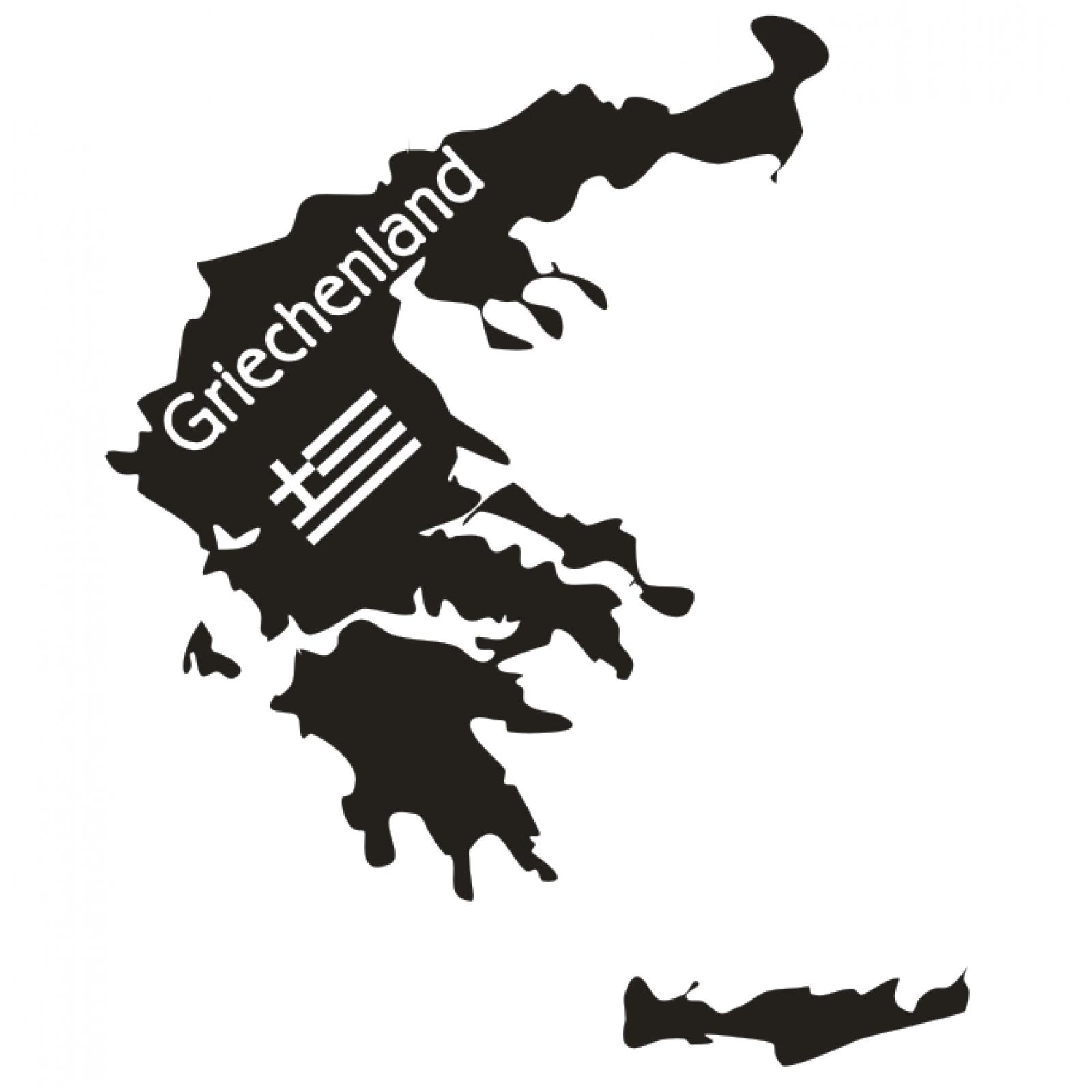 Indexbild 2 - Landkarte Wandtattoo  Griechenland Greece Karte Europa Wandaufkleber Sticker