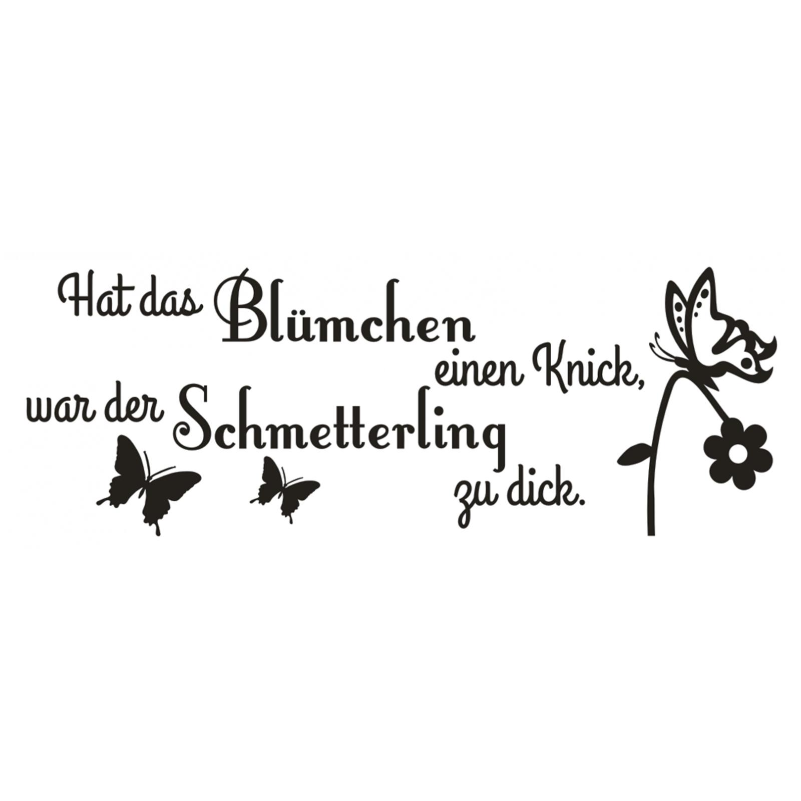 Wandtattoo mit Wunschnamen Blümchen und Schmetterlingen