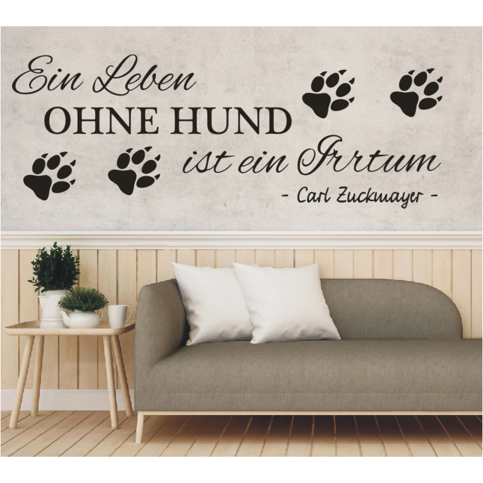 wandtattoo spruch ein leben ohne hund zitat wandsticker wandaufkleber sticker 2 ebay. Black Bedroom Furniture Sets. Home Design Ideas