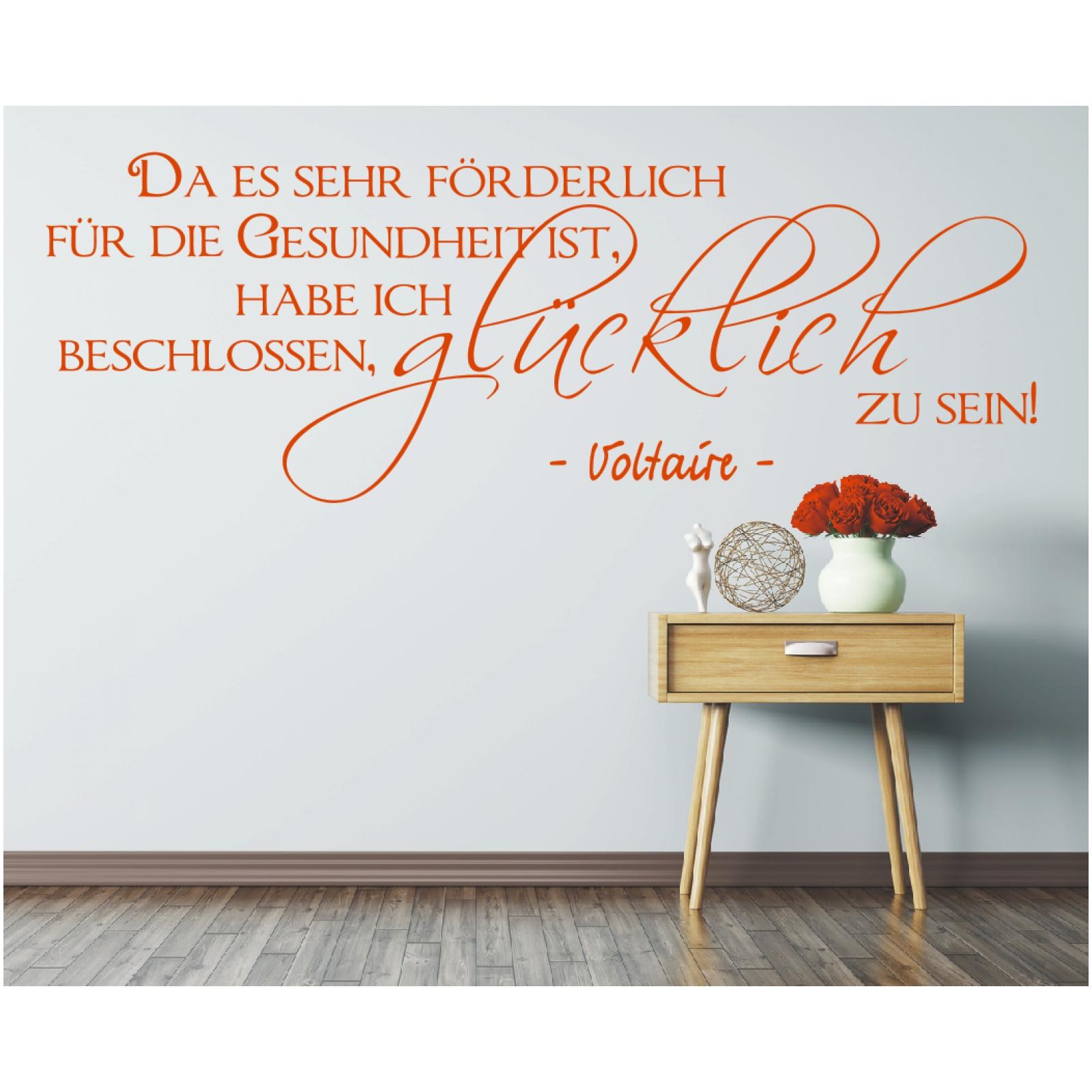 wandtattoo spruch gesundheit gl cklich sein zitat. Black Bedroom Furniture Sets. Home Design Ideas