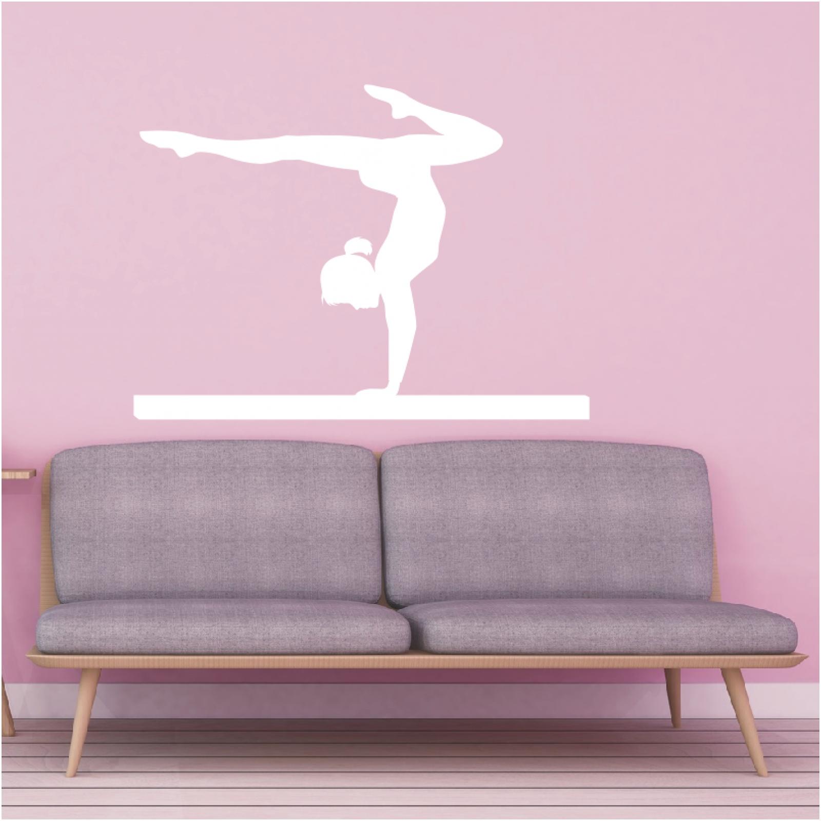 schatten wandtattoo turnen barren schwebebalken sport wandaufkleber deko1 ebay. Black Bedroom Furniture Sets. Home Design Ideas