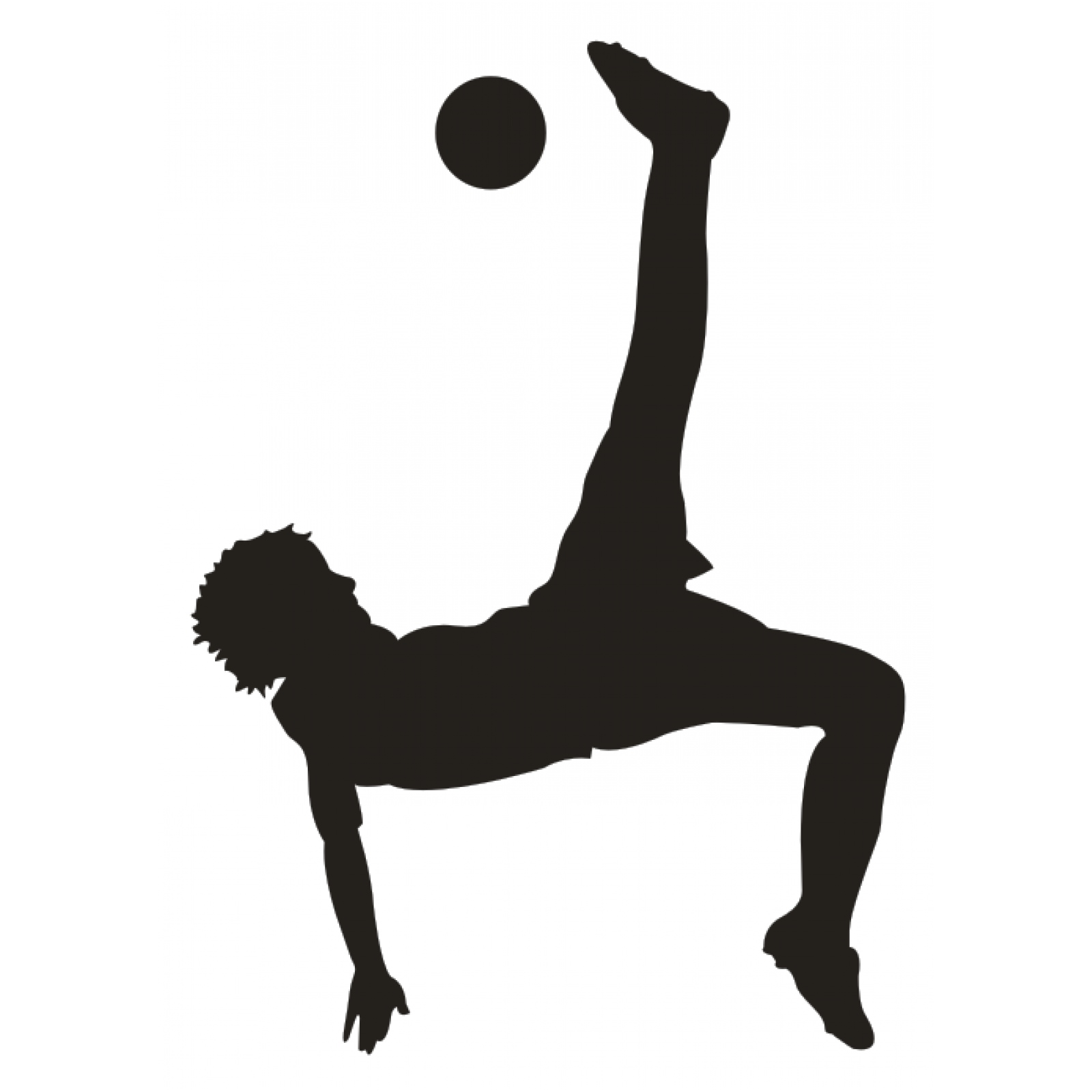 Fußballspieler Mit Ball Fallrückzieher