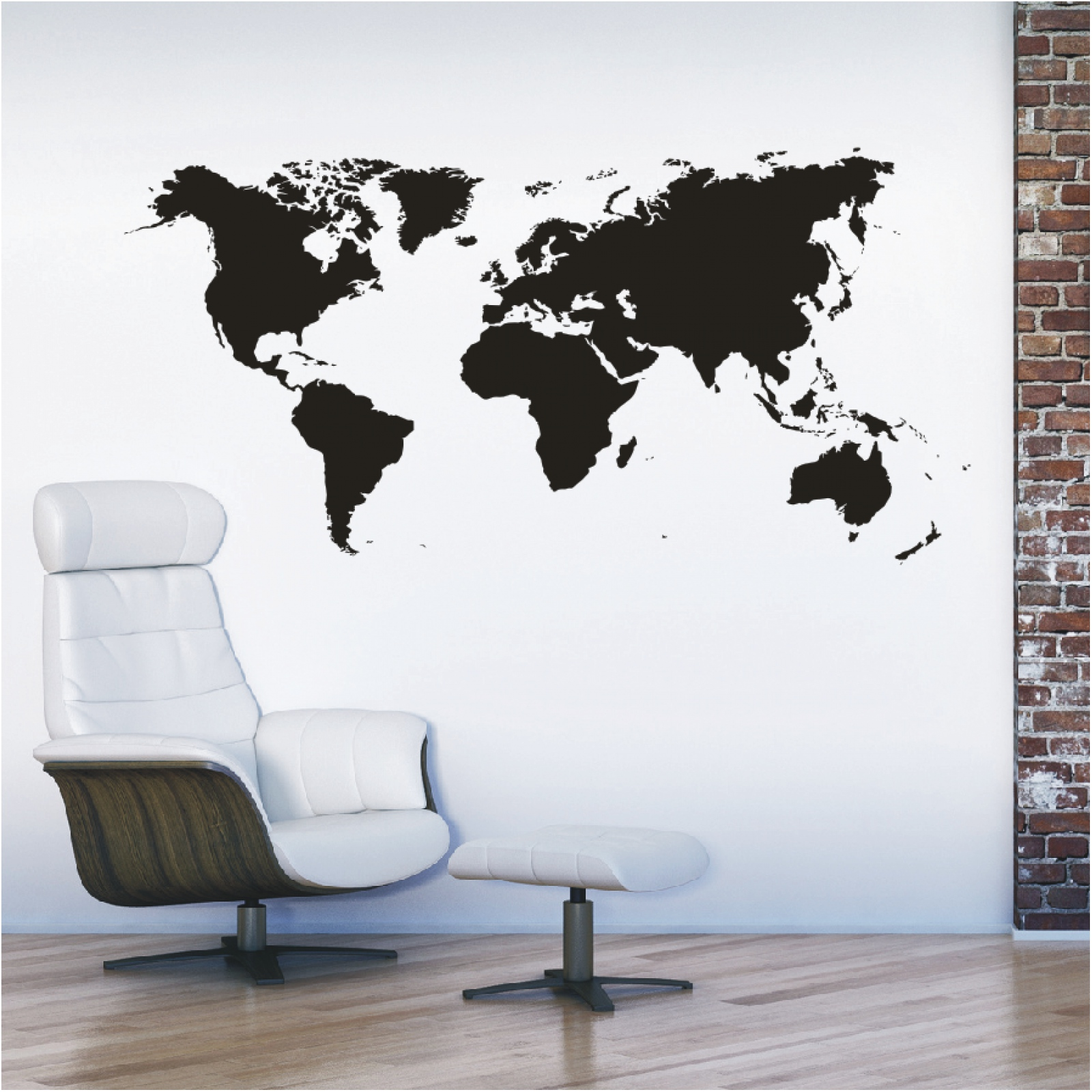 L111 landkarte wandtattoo kontinente weltkarte welt - Wandtattoo welt ...